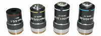 PLAN Compound Microscope Objectives 4x 10x 40x & 100x