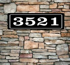 "Personalized Home Address Sign Aluminum 3"" x 12"" Custom House Number Plaque sq8"