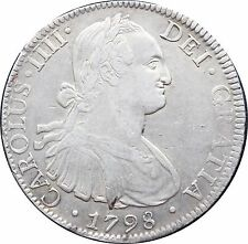 Mexico 8 Reales Mo 1798 F.M. Carolus IIII, KM# 109