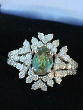 18K GOLD 2.50 CT GIA CERTIFIED BLUE GREEN TO PURPLE ALEXANDRITE DIAMOND RING!