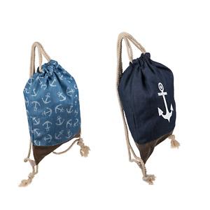 Fashion-Beutel Maritim Anker Fashionbeutel Damen Jeansstoff Vintage Rucksack
