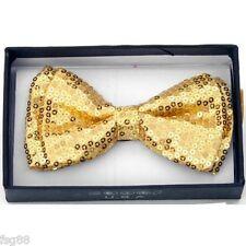 New Sequin BOWTIE Tuxedo Classic BowTie Neckwear Adjustable Unisex Bow Glitter