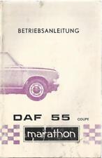 DAF 55 Coupe marathon Betriebsanleitung 1971 Bedienungsanleitung Handbuch BA