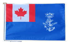 More details for canadian armed forces auxiliary jack flag with rope and toggle - various sizes