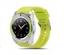 Luxus SmartWatch V8 Grün Bluetooth Uhr iOS Android Samsung iPhone SIM Kamera LG