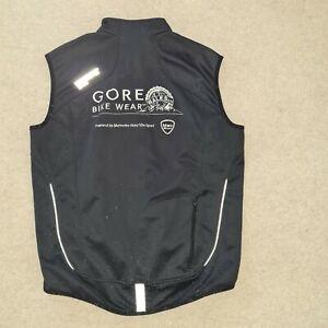 Gore Bikewear Black Gilet Wind stopper Size L Cycling Sleeveless Vest Jacket