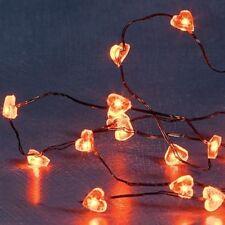LED Lichterkette Herz 20er rot Hochzeit Deko 2 Funkt. 1267-550