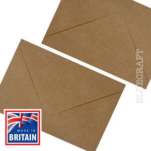 Brown Ribbed Kraft Envelopes C6 A6 100gsm