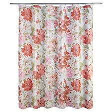 "Allure Home Creations Paint Pallet Floral Fabric Shower Curtain 70"" X 71"" New"