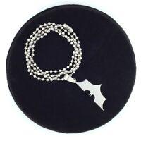 Batman Kette Edelstahl Halskette Anhänger mit Fledermaus Symbol Geschenk