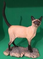 Vintage Border Fine Arts 'Siamese Cat' Signed by Judy Boyt on the Base.