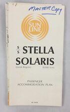 1974 Orig Passenger Plan Blueprints Ocean Liner SS Stella Solaris Sun Lines