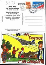 5257+ CARTE POSTALE CONCORDE  30e ANNIVERSAIRE 1er VOL 1999 OBLITERATION BLAGNAC