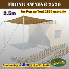 G CAMP 2.5M FRONT AWNING SIDE TENT POP UP ROOF CAMPER TRAILER 4WD CAMPING