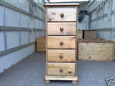 PINE FURNITURE RICHMOND 5 DRAWER NARROW BEDROOM CHEST