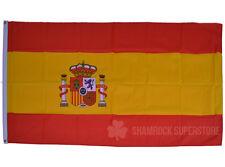 SPAIN STATE  FLAG 5 X 3 FT  NEW -  EUROPE SPANISH - Football Euro 2016