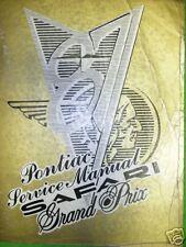 1987 PONTIAC GRAND PRIX SAFARI REPAIR MANUAL SERVICE