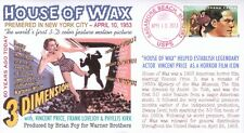 """COVERSCAPE computer designed 60th anniversary 1st 3D """"House of Wax"""" event cover"""