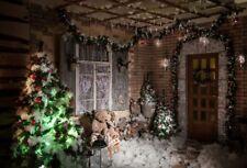 Christmas Snow Scene Photography Backdrops Photo Studio Props Background Vinyl