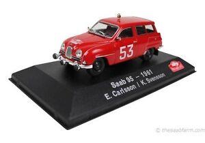 Rare 1//43 Saab 95 Monte Carlo Rally Atlas Switzerland Promo