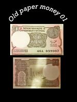 059007 Jamesbond India 1 Rupee Banknote World Paper Money UNC Currency Bill note