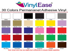 30 Sheets 12 in x 6 in Permanent Craft  Sign Vinyl 30 Assorted Colors V0001