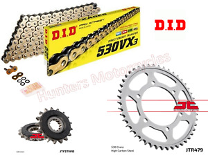 Yamaha YZF-R1 (1999 & 2000) DID Gold X-Ring Chain and JT Quiet Sprocket Kit Set