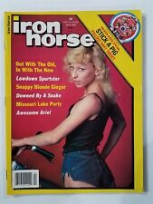 Iron Horse Motorcycle Magazine April 1984  Stick-A-Pig Pullout - With Centerfold
