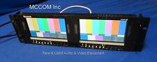 "Marshall V-R72P-2SD Dual 7"" LCD SDI Monitors - NO power supply"