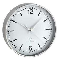 Horloge murale radio-pilotée Locarno blanc 195 mm aluminium verre véritable TFA