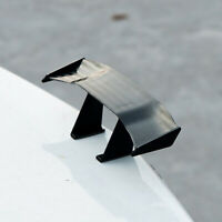 Universal Mini Black Spoiler Auto Car Tail Decoration Spoiler Wing Carbon Fiber