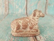 OLD VINTAGE BEAUTIFUL RIVER CLAY MADE SHEEP STATUE / FIGURINE INDIA