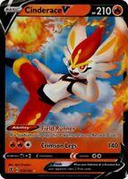 Pokemon TCG Card - Cinderace V 35/192 - Ultra Rare Holo - Rebel Clash - Mint NM
