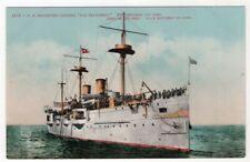 1890-1920 Protected Cruiser C-5 USS San Francisco - Edward H. Mitchell Postcard