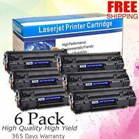 6PCS Toner Cartridge for HP 78A CE278A Black LaserJet P1566 P1606dn M1536dnf MFP