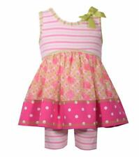 BONNIE JEANS® Toddler Girl's 2T Striped Knit Dress & Shorts Set NWT $52