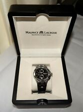 Maurice Lacroix Aikon Chronograph Quartz Watch Black 44mm Ai1018-ss001-330-1