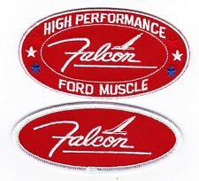 FORD FALCON RED WHITE SEW/IRON ON PATCH BADGE EMBLEM EMBROIDERED RANCHERO