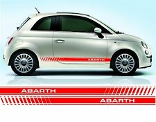 Fiat 500 Abarth door stripe decals / stickers