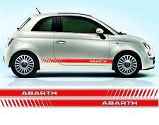 Fiat 500 Abarth door stripe decals / stickers