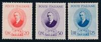 1938 ITALIA REGNO GUGLIELMO MARCONI SERIE 3 VAL. MNH** - RE27-1