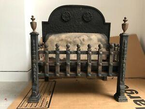 Cast iron gas fire basket