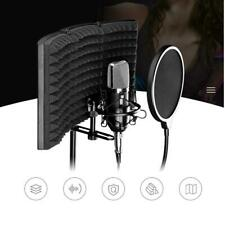 "10"" Studio Microphone Isolation Shield Studio Mic Sound Absorbing Foam Reflector"