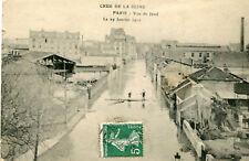 Carte PARIS Crue Seine 29 Janvier 1910 Vue de Javel