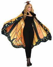 Monarch Butterfly Deluxe Insect Fairy Women Costume Velvet Cape Wings