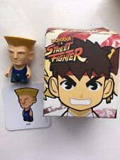 """BOXED 3"""" SMALL KIDROBOT STREET FIGHTER SERIES 1 GUILE ACTION FIGURE"""