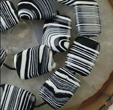 13x18mm Black&White Turkey Turquoise Gemstone Rectangle Loose Beads 15''