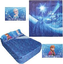 NEW Disney FROZEN ELSA Snow Queen 'Let it Go' FULL/QUEEN Comforter & FULL SHEETS