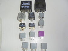 VW AUDI 14 MISC RELAYS RELAY OFF AN 03 PASSAT FITS MANY VW AND AUDI 14 TOTAL
