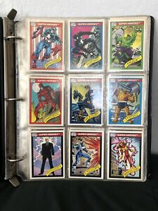 Complete Mint Condition 1990 Marvel Trading Card Set In Binder.